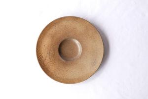 リゾット皿[29cm]マンガン結晶釉、城島瓦での焼成